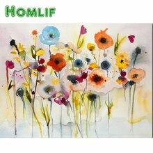 HOMLIF-peinture carrée diamant 5D   Décor mural moderne, rouge jaune bleu, peinture abstraite pour salon, peinture murale, Art