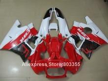 Kit de carénage pour HONDA CBR600 F2 1994 1993 1992 1991 Haute qualité cbr-600 (blanc rouge) carénages 91 92 93 94 année xl96