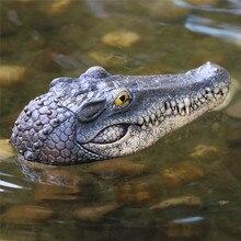 Floating Crocodile Head Water simulation crocodile head  Water Decoy Garden Pond Art Decor for Goose Control