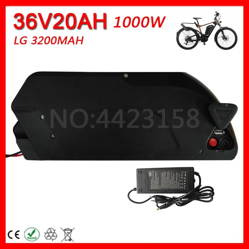 Аккумулятор для электровелосипеда Shark 36 в 20 Ач, используется для LG Power cell, литий-ионный аккумулятор 36 в 1000 Вт блок батарей электрического велосипеда, аккумулятор с зарядным устройством 2A