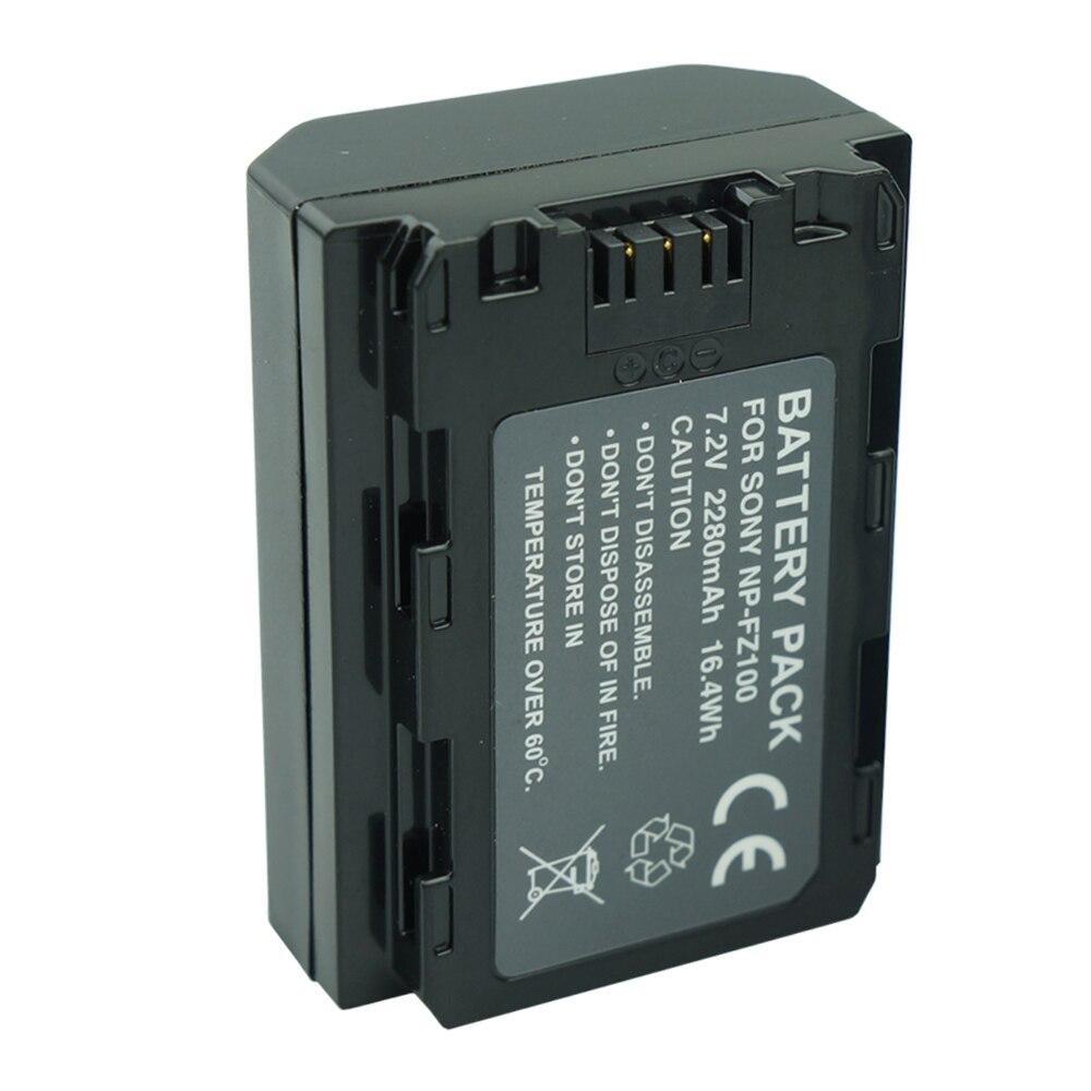 2280mAh NP-FZ100 batería NP FZ100 batería para Sony NP-FZ100 BC-QZ1 alfa 9 A7RIII... ILCE-7RM3... A9 Sony A9R Sony Alpha 9 Cámara