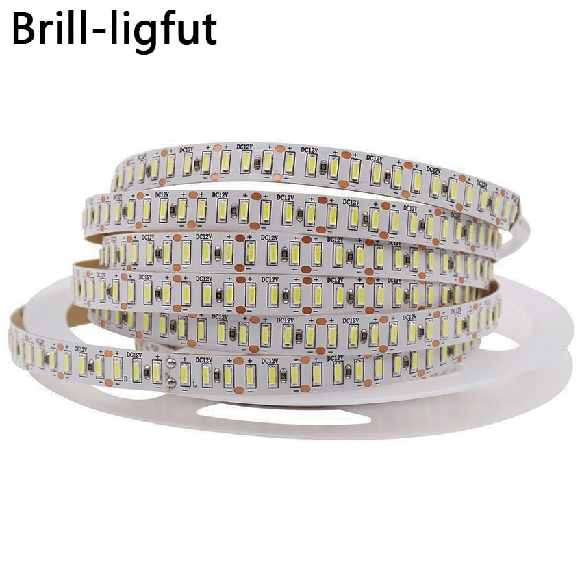Ultra Bright 3014 LED Strip Light 204 LEDs/m DC12V 5m/lot Waterproof LED tape Ribbon Lights Holiday Home Decoration Lighs