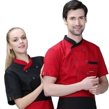 2018 Hot Sell Summer Short Sleeve Chef Jacket Oversized Fat Big Work Uniform Hotel Restaurant Cook Wear Cheap Chefwear+Apron Set