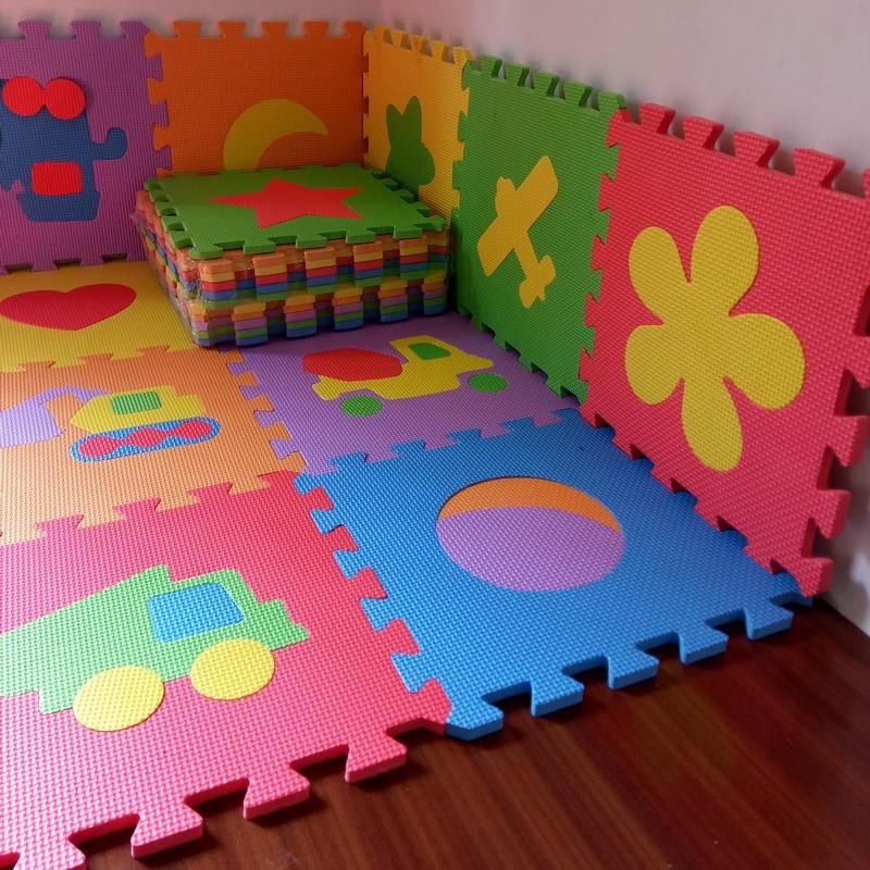 10PCS Pack Baby Puzzle Mat Baby Play Mat Floor Puzzle Mat EVA Children Foam Carpet Mosaic Floor Play Mats 4 Style PX10