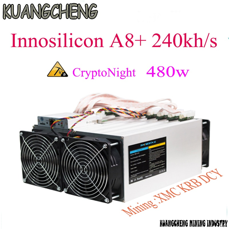 Innosilicon CryptoMaster A8 + 240kh/s CryptoNight górnik A8 plus 240 K 480 W ASIC maszyny górnicze