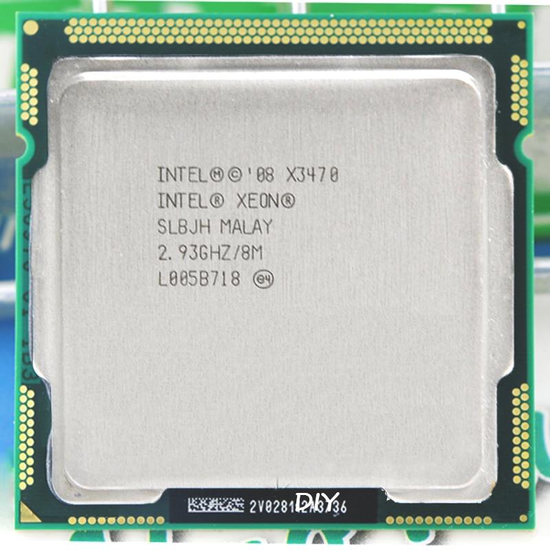 إنتل كور زيون X3470 8M مخبأ 2.93 GHz Torbu تردد 3.6 LGA 1156 P55 H55 المساواة i7 870