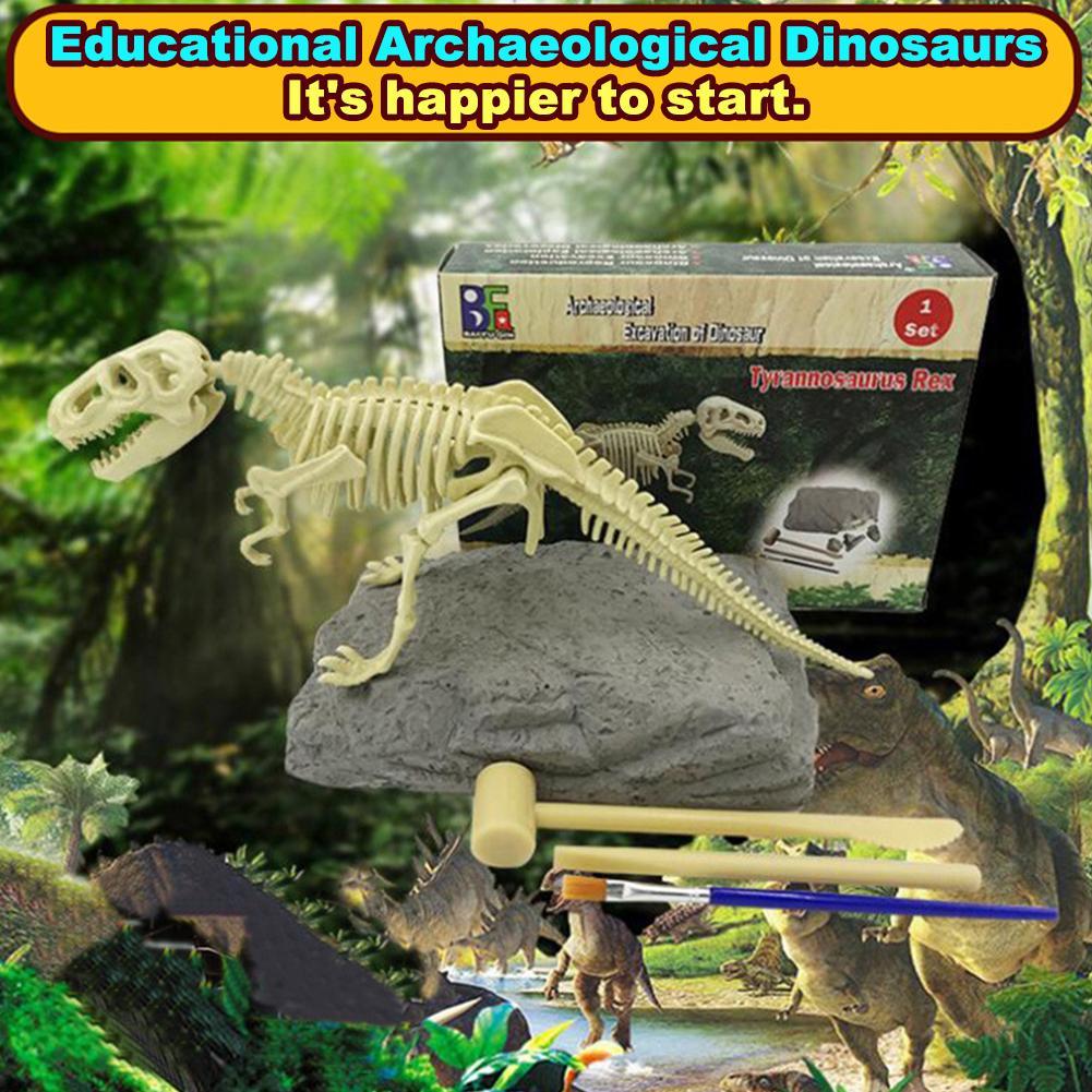 Dinosaur Fossil Skeleton Excavation Dig up Kit DIY Assembly Educational Kids Toy Gift for children kids