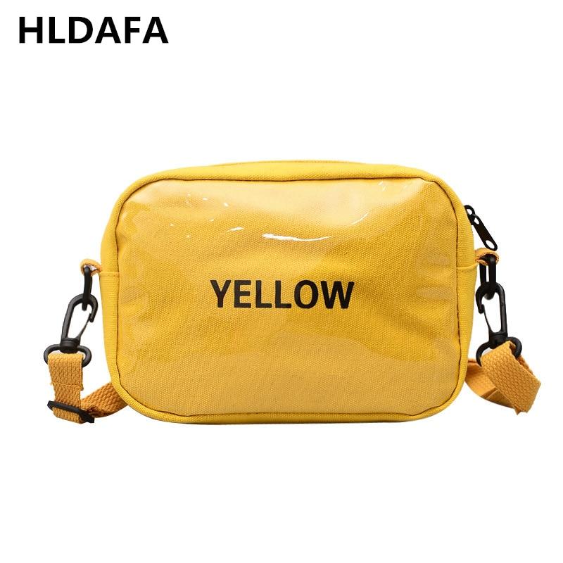 HLDAFA 2020 New Woman Fashion Casual Shoulder Bag Canvas Crossbody Bags Letter Flap Female Small Storage Messenger Bag Daily Bag