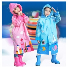 Combinaison imperméable en PVC pour enfants   Joli Poncho de bébé, vêtements de pluie pour enfants avec des sacs décole