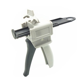 50ml 10:1 AB Epoxy Resin Glue Gun Applicator Glue Adhesive Mixed Caulking Gun for Ring Gas Resin Silica Gel Component Adhension