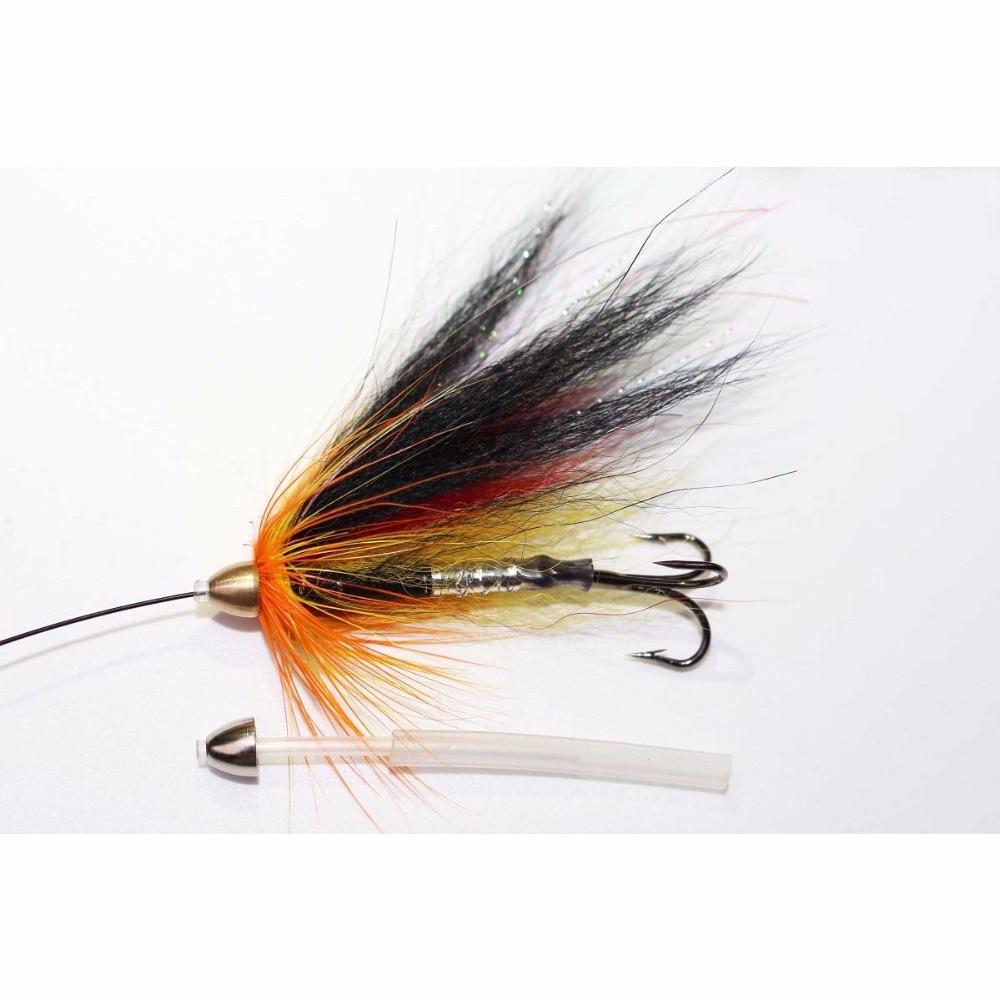 Купить с кэшбэком Tigofly 12 pcs/lot Assorted Tube Fly Set For Salmon Trout Steelhead Fly Fishing Flies Lures Set