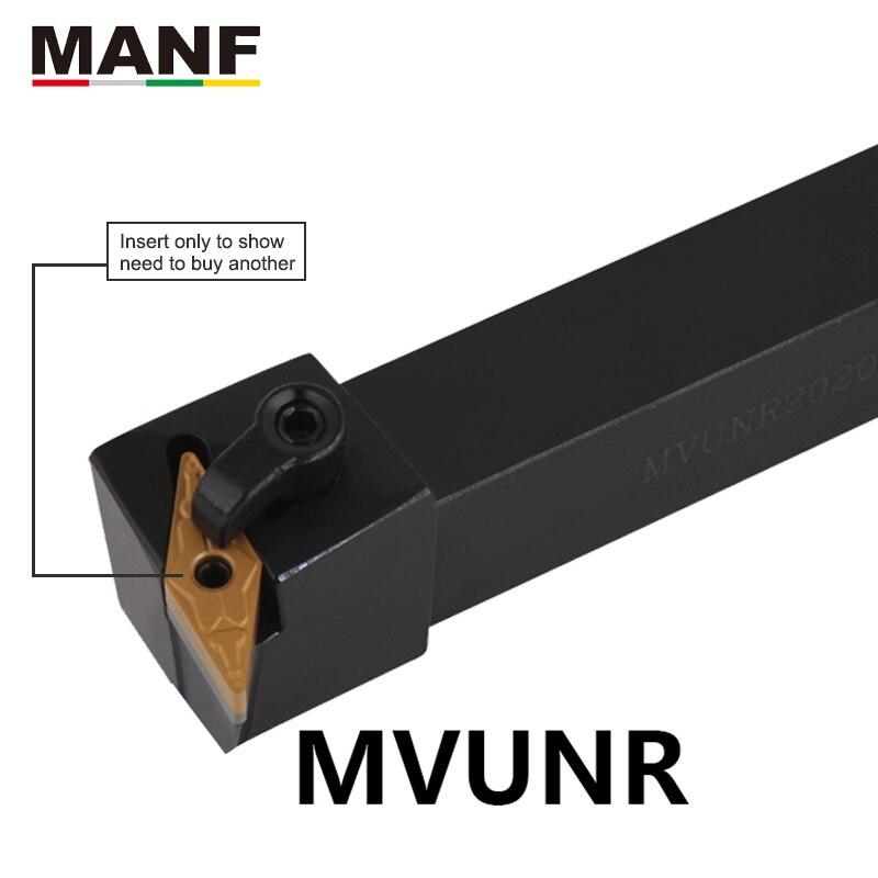 MANF torno 12mm 20mm 25mm MVUNR-2020K16 herramienta de torneado cortador torno herramienta soporte externo herramienta de torneado CNC torno Arbor