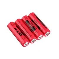 gtf 3 7v 12000mah 18650 battery led flashlight torch batteries li ion rechargeable batteries portable led powerbank celular
