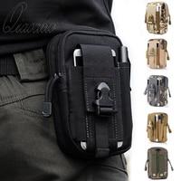 Qiaodu Military Molle Pouch Men Waist Bag Camo Waterproof Nylon Multifunction Casual Men Fanny Waist Pack Belt for Outdoor Wear