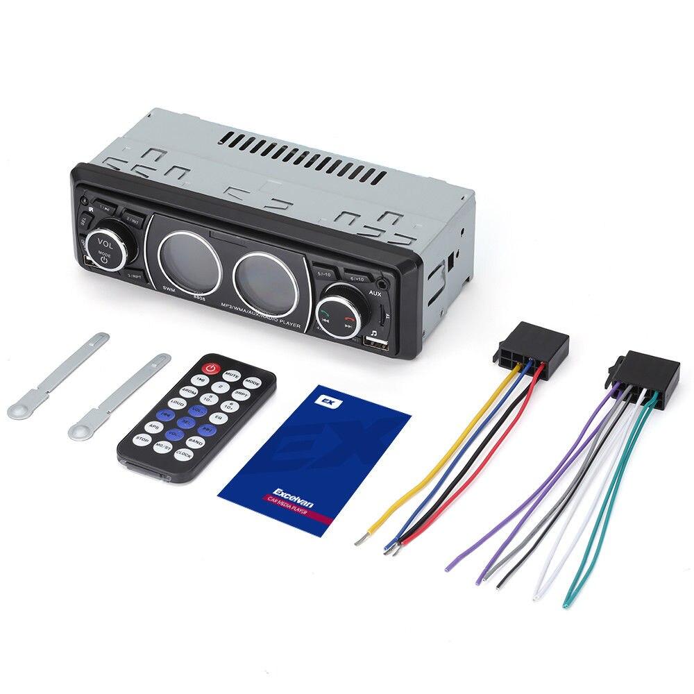 EDAL Control remoto 1Din reproductor de Radio Estéreo Auto reproductor Multimedia de Audio del coche de Bluetooth FM /AUX llamada con manos libres Auto USB SD MP3