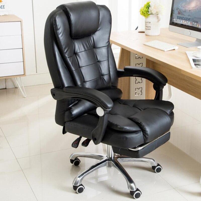VESCOVO компьютерный стул черное сиденье массажное кресло босс для офиса|Офисные