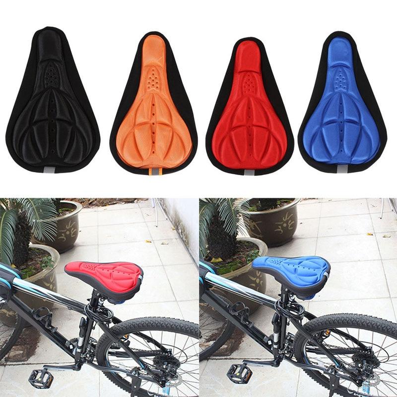 Almohadilla de cojín gruesa para bicicleta, almohadilla de esponja para asiento de bicicleta, cubierta para asiento de bicicleta para deportes de bicicleta al aire libre, 4 colores
