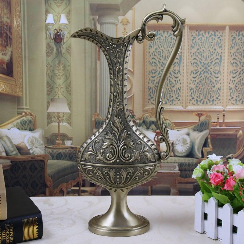 Europea бутылка shap металлическая настольная ваза вазы с цветами, ваза для украшения дома HP002