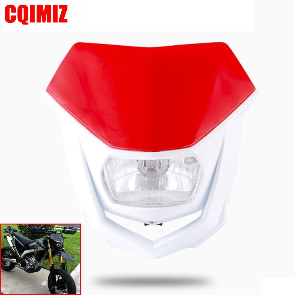 Motocross Enduro Supermoto Headlight Dirt Bike Headlamp For DRZ XT WR KX XR YZF CRF MX SX XC EXC Headlight Fairing H4 35W