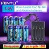 KENTLI 8 sztuk 1.5v 3000mWh AA akumulator litowo-polimerowy litowo-jonowy bateria litowo-polimerowa + 4 gniazda inteligentna ładowarka na usb