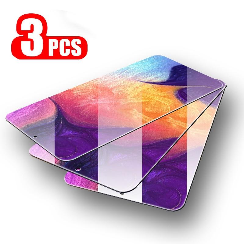 3 uds de cristal para Samsung Galaxy A50 A70 Protector de pantalla de cristal templado para Samsung M20 A20 A20e A60 A80 M10 A30 A40 A70 A50 A10