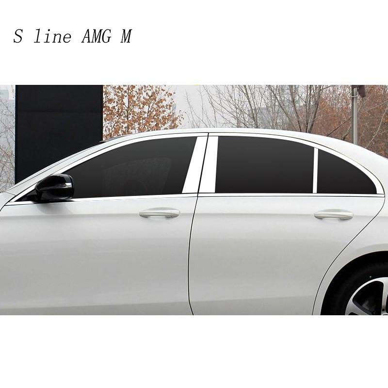Auto Styling Fenster BC Säulen Pailletten Dekoration Abdeckung Aufkleber Trim Für Mercedes Benz E Klasse W213 E200 E300 Auto Zubehör