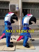 mascot Macaw Mascot Costume Blue Parrot Mascotte Carnival Costume Fancy Dress Suit EMS FREE SHIP WYT91349