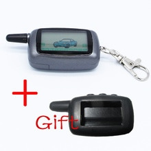 Russia Version Case Keychain For Starline A9 LCD Remote 2 Way Two Way Car Alarm System + silicone ca