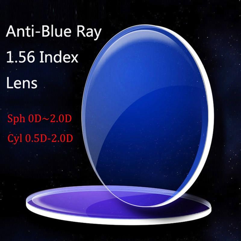 Kirka Anti-Blue Ray Lens 1.56 Index Myopia Prescription Computer Optical Lens For Eyes Protection Reading Eyewear
