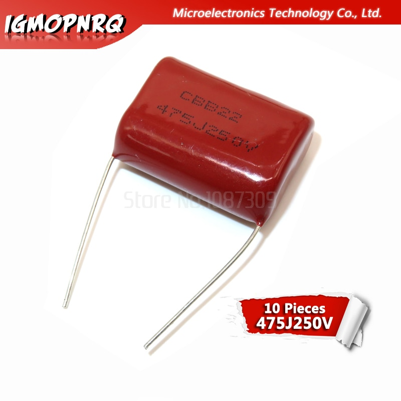 10PCS 250V475J Pitch 25MM 250V 4.7UF 475 4700PF igmopnrq CBB Polypropylene film capacitor new