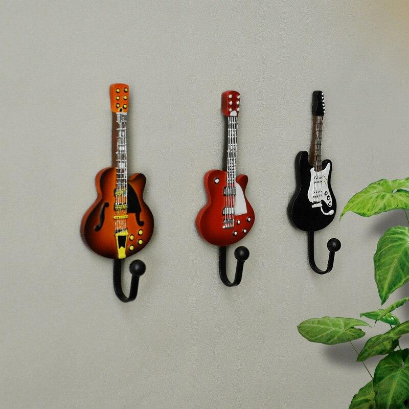 Креативное пальто в европейском стиле для гитары из смолы, крючки, декоративные шляпы, пальто, одежда, полотенца, настенная вешалка для двери, крючки