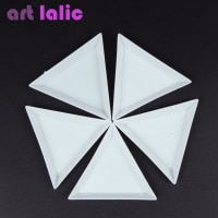 10 шт., Пластиковые Треугольные Стразы