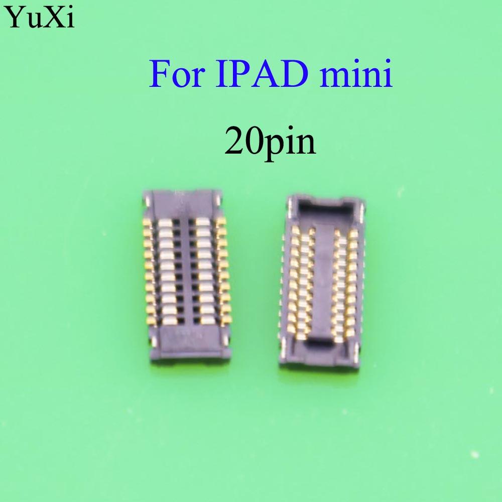 YuXi pantalla táctil FPC conector para iPad mini 1 2 3 cristal digitalizador FPC en placa lógica Placa de enchufe