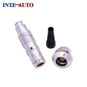 Metal waterproof IP68 push pull self-locking male female connector M16 1K series 7 pins plug socket, TGG.1K.307 ZGG.1K.307