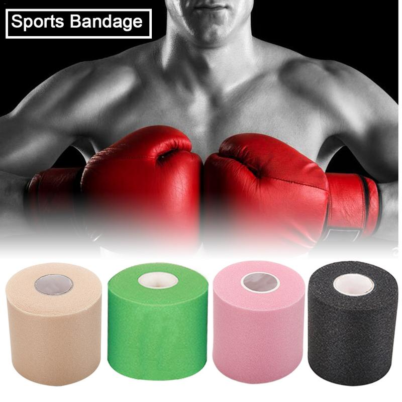 Vendaje de respaldo de espuma de PU para deportes, vendaje de vendaje elástico adhesivo, vendaje muscular, cinta de entrenamiento atlético 7cm * 27,5 m
