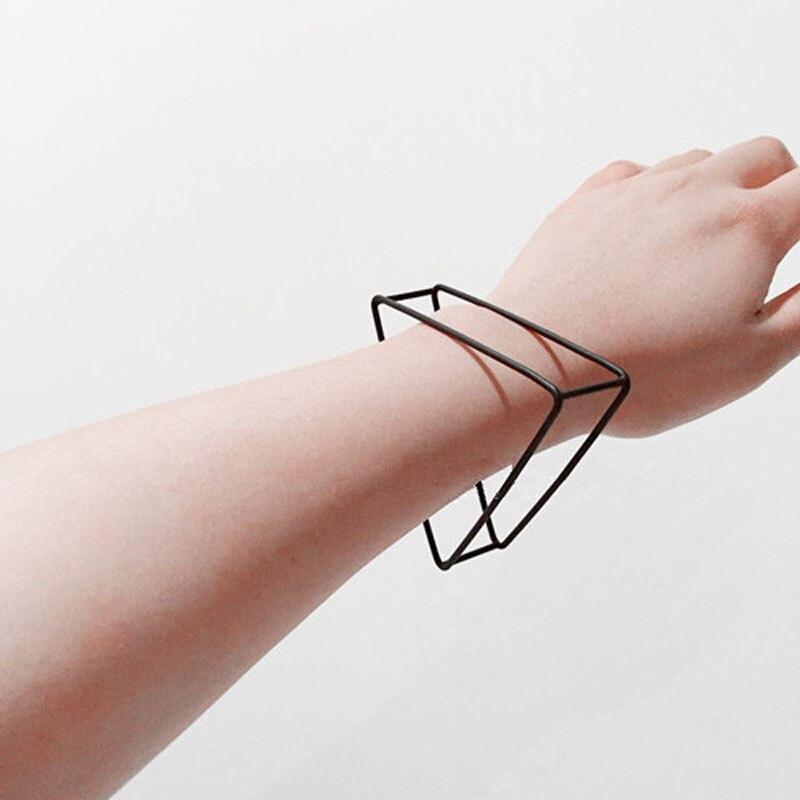 3 cores 2018 nova moda jóias estilo simples triângulo geométrico oco para fora pulseiras & pulseiras punk pulseira para mulher bijoux