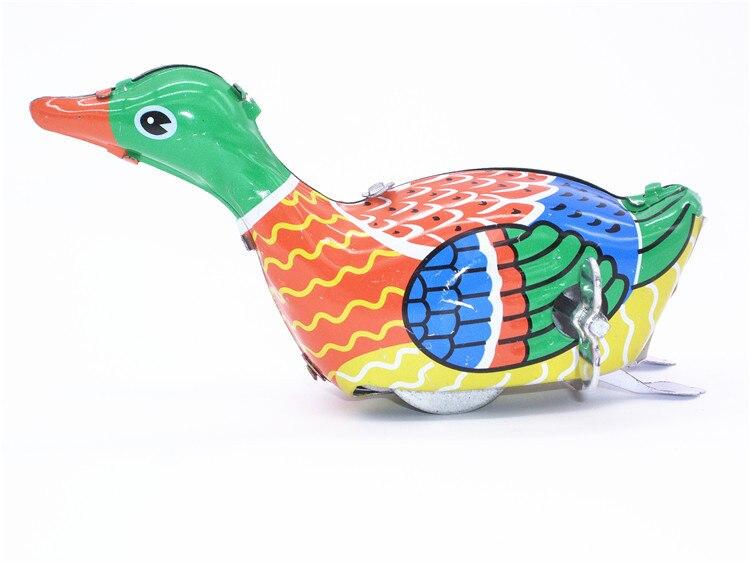 Новая Классическая винтажная Ретро игрушка с гусиным пухом, металлическая оловянная игрушка для плавания, жестяная утка, детская игрушка д...