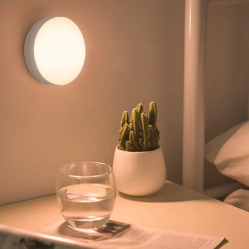 6 LED de luz nocturna táctil inalámbrica AAA batería de Sensor de movimiento regulable lámpara de pared infrarroja gabinete de luces de escalera