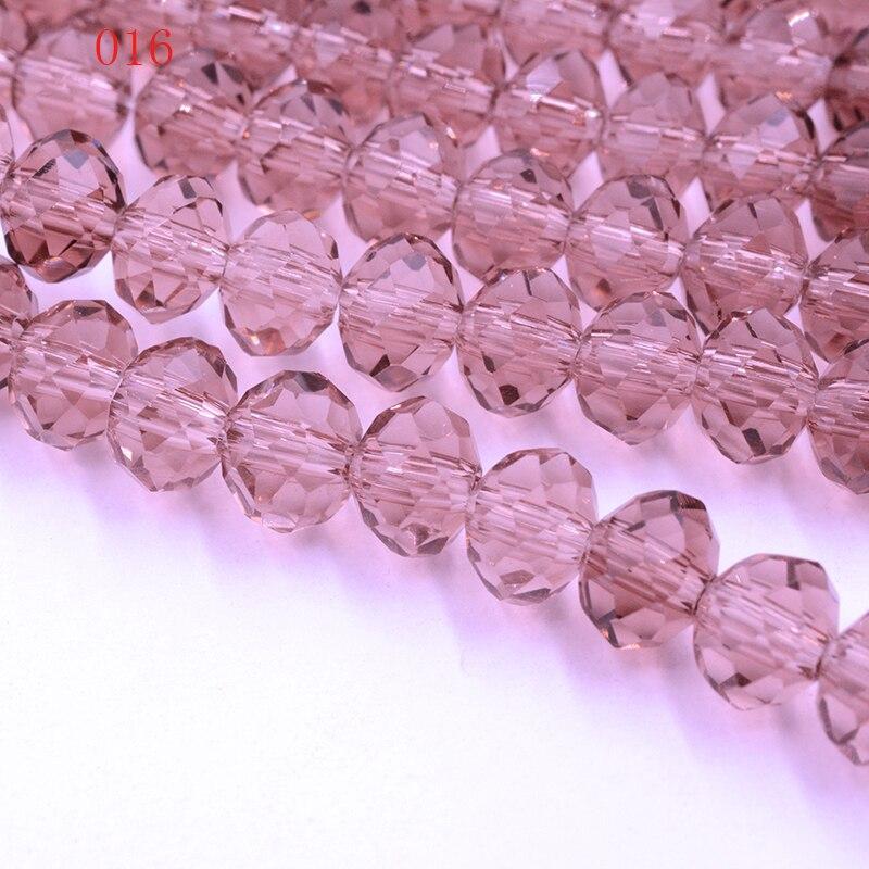 FLTMRH rojo púrpura colores 8mm 70 Uds cuentas Austria cristal cuentas de vidrio de cristal espaciador suelto ronda perlas para joyería haciendo
