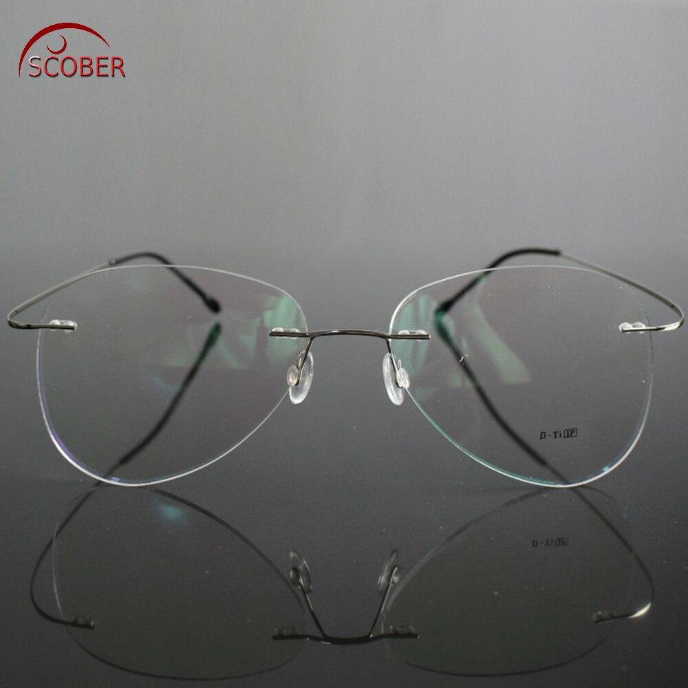 Очки для чтения SCOBER в большой оправе, только 2G, ультралегкие мужские и женские очки без оправы + 0,75 + 1 + 1,25 + 1,75 to + 4