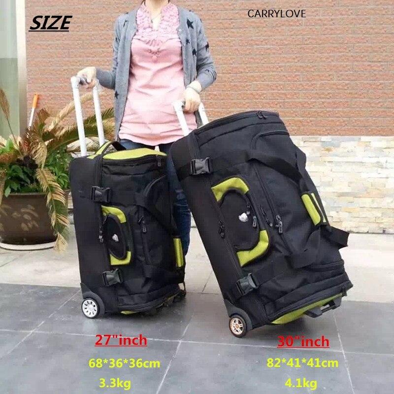 "Maleta de viaje de alta capacidad impermeable CARRYLOVE, bolsa de tela Oxford para equipaje rodante, cubierta de carrito para mujer, caja de 27 ""30"" para hombres"