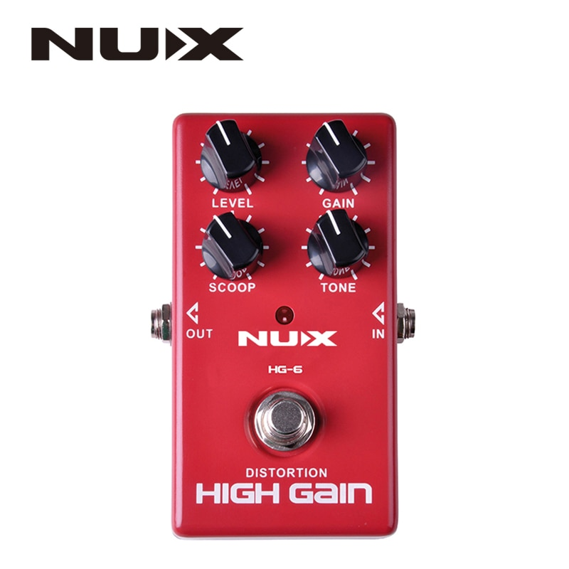 electric guitar nux mg 100 mg 200 electric guitar effector guitar synthesizer drum machine processor rock pop funk jazz patterns NUX HG-6 High Quality Guitar Distortion High Gain Electric Effect Pedal True Bypass Red Durable Guitar Parts & Accessories