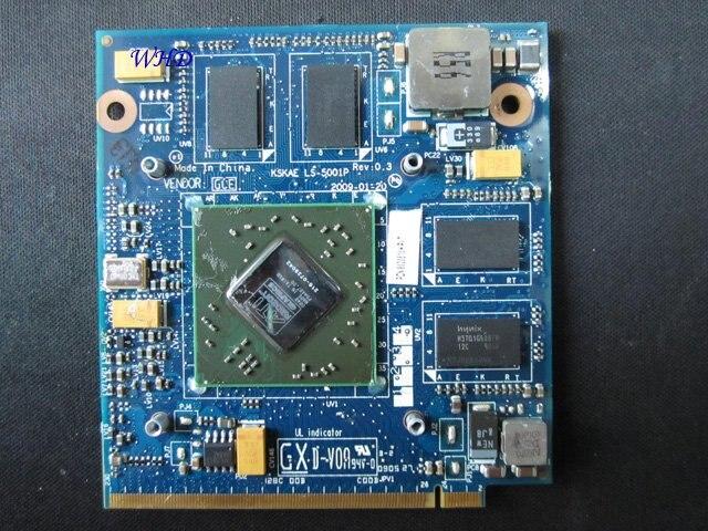 HD4650 M96 1G 216-0729042 K00005001 K000075440 WK910 K LS-5001P KSKAE DDR3 vídeo VGA tarjeta para TOSHIBA A500 L500 L550 portátil