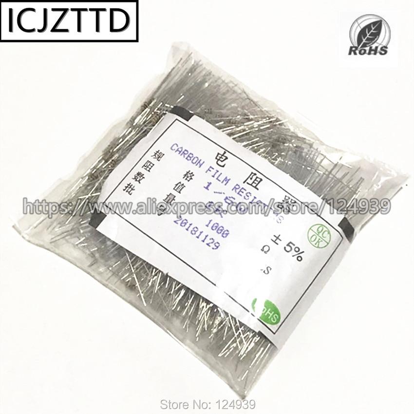 1000 PCS 1/8 W 1/6 5% W 430 K 470 K 510 K 560 K 620 K 680 K 750 K 820 K 910 K RES 1 M filme de carbono