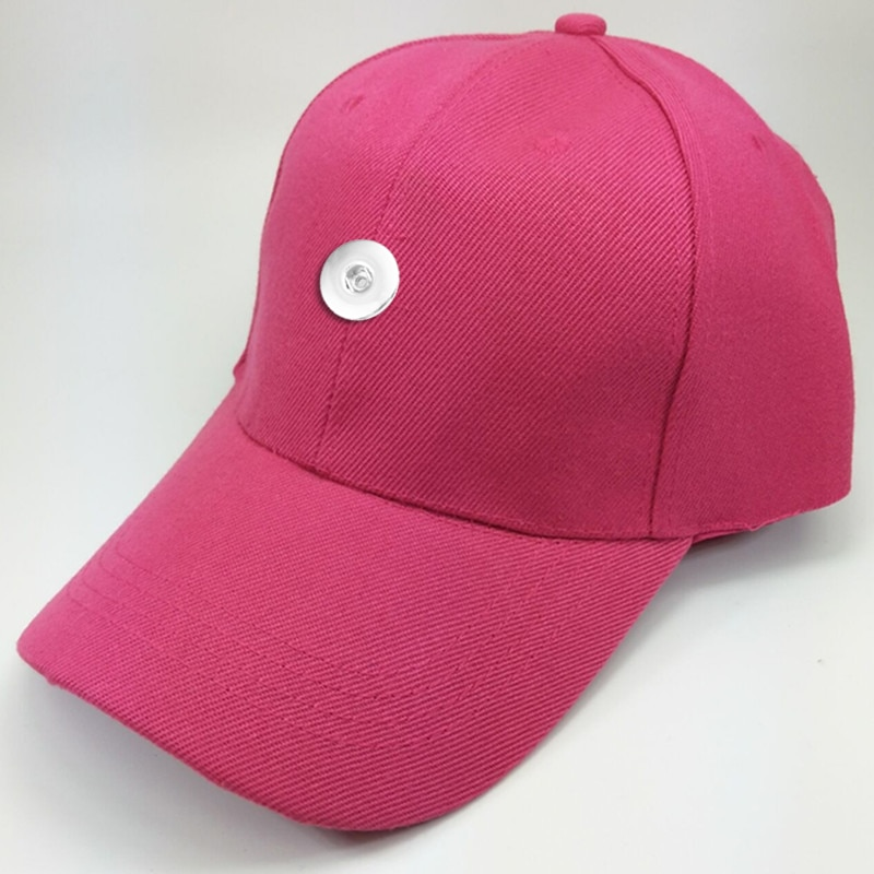 Multicolor deportes béisbol 18mm botón a presión gorras DIY sombreros de joyería TW206