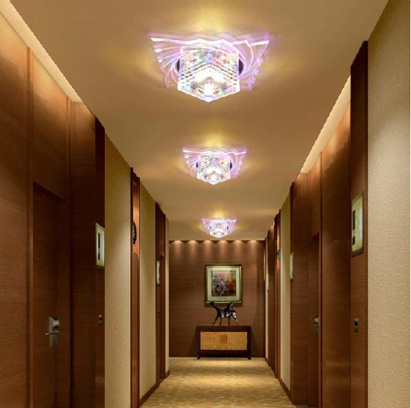 Colorpai led ceiling light 3w Crystal lamp led AC200-240V living room lights modern crystal lamp