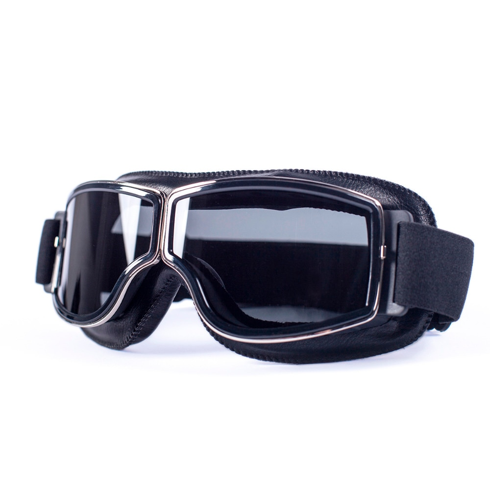 evomosa Universal Motorcycle Vintage Goggles Pilot Motorbike Scooter Biker Glasses Steampunk Goggles For Harley Helmet motorcycle atv riding scooter driving flying protective frame clear lens portable vintage helmet goggles glasses for 2009 buell xb12r
