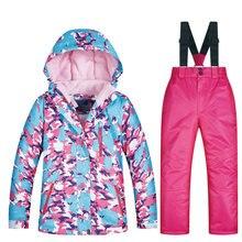 Merken Skipak Voor Kind Nieuwe Hoge Kwaliteit Jas En Broek Winddicht Waterdicht Sneeuw Pak Winter Meisjes Ski En Snowboard jas