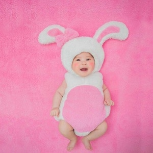 Toddler Photo Shoot Pink Rabbit Flannel Outfits Kids Photography Props Baby Infant Cartoon fotografia Props Accessory bebe foto