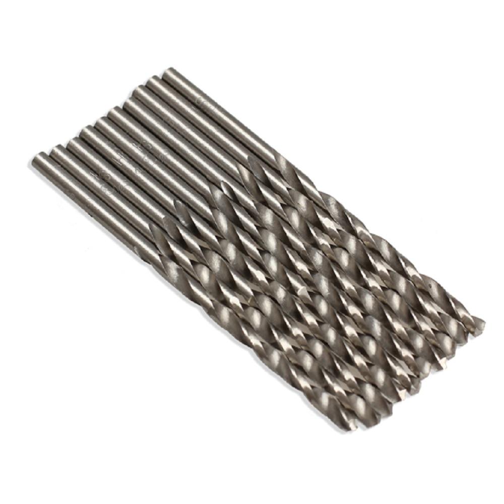 10 unids/lote 3mm Micro HSS Twist de barrena eléctrica broca para Metal madera eléctrica taladro de herramientas